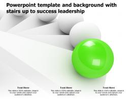 Powerpoint Template And Background With Stairs Up To Success Leadership