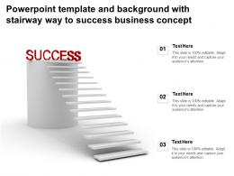 Powerpoint Template And Background With Stairway Way To Success Business Concept