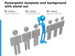 Powerpoint Template And Background With Stand Out