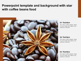 Powerpoint Template And Background With Star With Coffee Beans Food