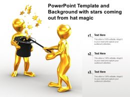 Powerpoint Template And Background With Stars Coming Out From Hat Magic