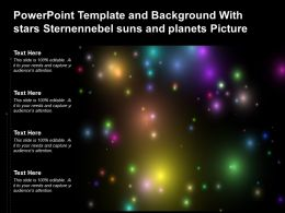 Powerpoint Template And Background With Stars Sternennebel Suns And Planets Picture
