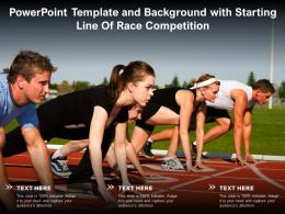 Powerpoint Template And Background With Starting Line Of Race Competition