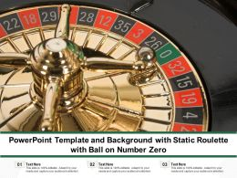 Powerpoint Template And Background With Static Roulette With Ball On Number Zero