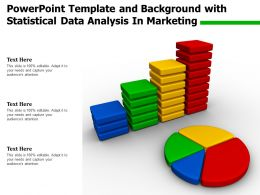 Powerpoint Template And Background With Statistical Data Analysis In Marketing