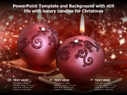 Powerpoint Template And Background With Still Life With Luxury Candles For Christmas