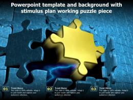 Powerpoint Template And Background With Stimulus Plan Working Puzzle Piece