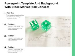 Powerpoint Template And Background With Stock Market Risk Concept
