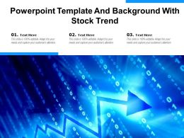 Powerpoint Template And Background With Stock Trend