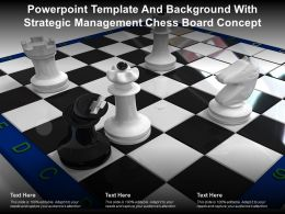 Powerpoint Template And Background With Strategic Management Chess Board Concept