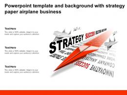 Powerpoint Template And Background With Strategy Paper Airplane Business