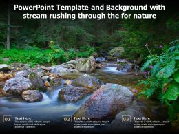 Powerpoint Template And Background With Stream Rushing Through The For Nature