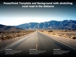 Powerpoint Template And Background With Stretching Rural Road In The Distance