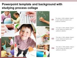 Powerpoint Template And Background With Studying Process Collage