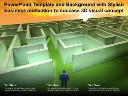 Powerpoint Template And Background With Stylish Business Motivation To Success 3d Visual Concept
