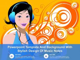 Powerpoint Template And Background With Stylish Design Of Music Notes
