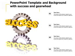 Powerpoint Template And Background With Success And Gearwheel
