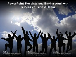 Powerpoint Template And Background With Success Business Team