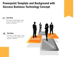 Powerpoint Template And Background With Success Business Technology Concept
