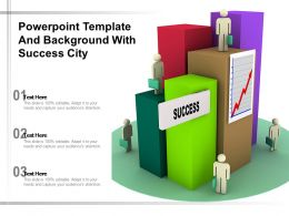 Powerpoint Template And Background With Success City