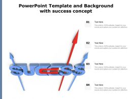 Powerpoint Template And Background With Success Concept
