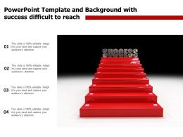 Powerpoint Template And Background With Success Difficult To Reach