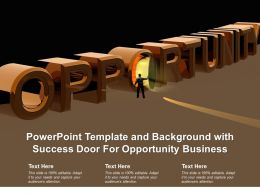 Powerpoint Template And Background With Success Door For Opportunity Business