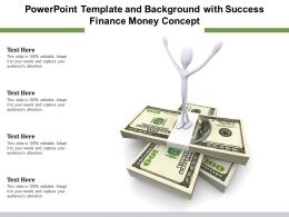 Powerpoint Template And Background With Success Finance Money Concept