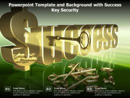 Powerpoint Template And Background With Success Key Security