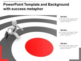 Powerpoint Template And Background With Success Metaphor
