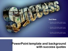 Powerpoint Template And Background With Success Quote