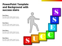 Powerpoint Template And Background With Success Stairs