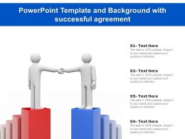Powerpoint Template And Background With Successful Agreement