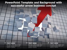 Powerpoint Template And Background With Successful Arrow Business Concept