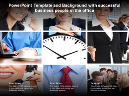 Powerpoint Template And Background With Successful Business People In The Office