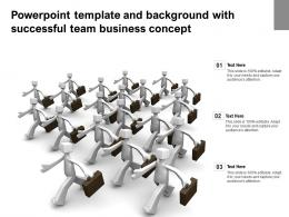 Powerpoint Template And Background With Successful Team Business Concept
