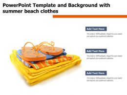 Powerpoint Template And Background With Summer Beach Clothes