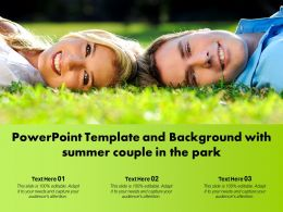 Powerpoint Template And Background With Summer Couple In The Park