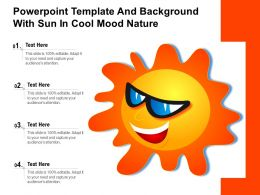 Powerpoint Template And Background With Sun In Cool Mood Nature