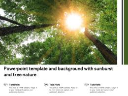 Powerpoint Template And Background With Sunburst And Tree Nature