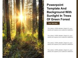 Powerpoint Template And Background With Sunlight In Trees Of Green Forest