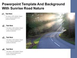 Powerpoint Template And Background With Sunrise Road Nature