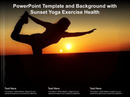 Powerpoint Template And Background With Sunset Yoga Exercise Health