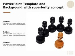Powerpoint Template And Background With Superiority Concept