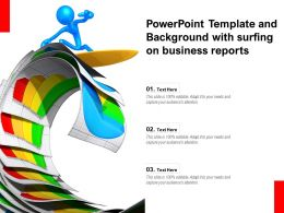 Powerpoint Template And Background With Surfing On Business Reports