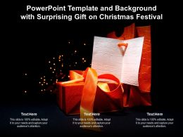 Powerpoint Template And Background With Surprising Gift On Christmas Festival