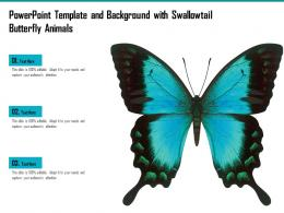 Powerpoint Template And Background With Swallowtail Butterfly Animals