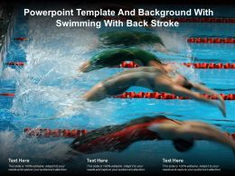 Powerpoint Template And Background With Swimming With Back Stroke