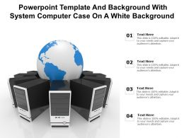 Powerpoint Template And Background With System Computer Case On A White Background