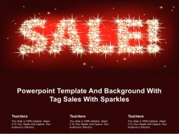 Powerpoint Template And Background With Tag Sales With Sparkles